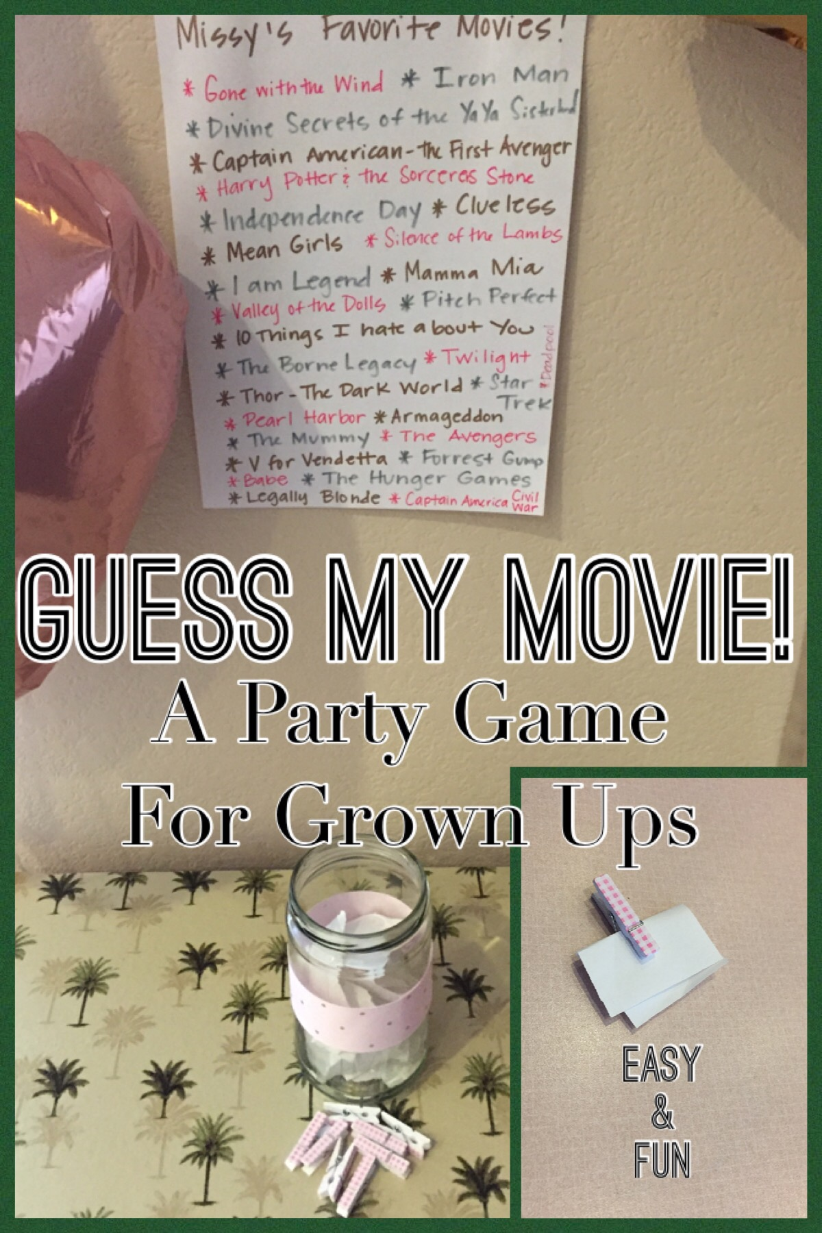 guess the movie a simple fun party game missymrsmom
